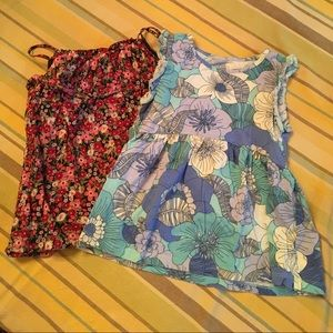 Gap floral print tanks bundle with shorts